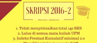 PENDADARAN SKRIPSI MAHASISWA MARCOMM MASSCOMM BINUS UNIVERSITY